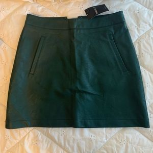Green leather size small skirt. NWT forever 21
